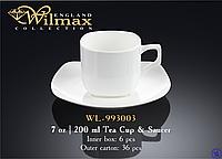 Чашка фарфоровая для чая+блюдце 200 мл WILMAX WL-993003