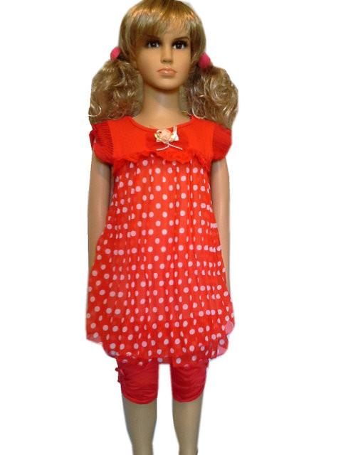 Платье на девочку с лосинами