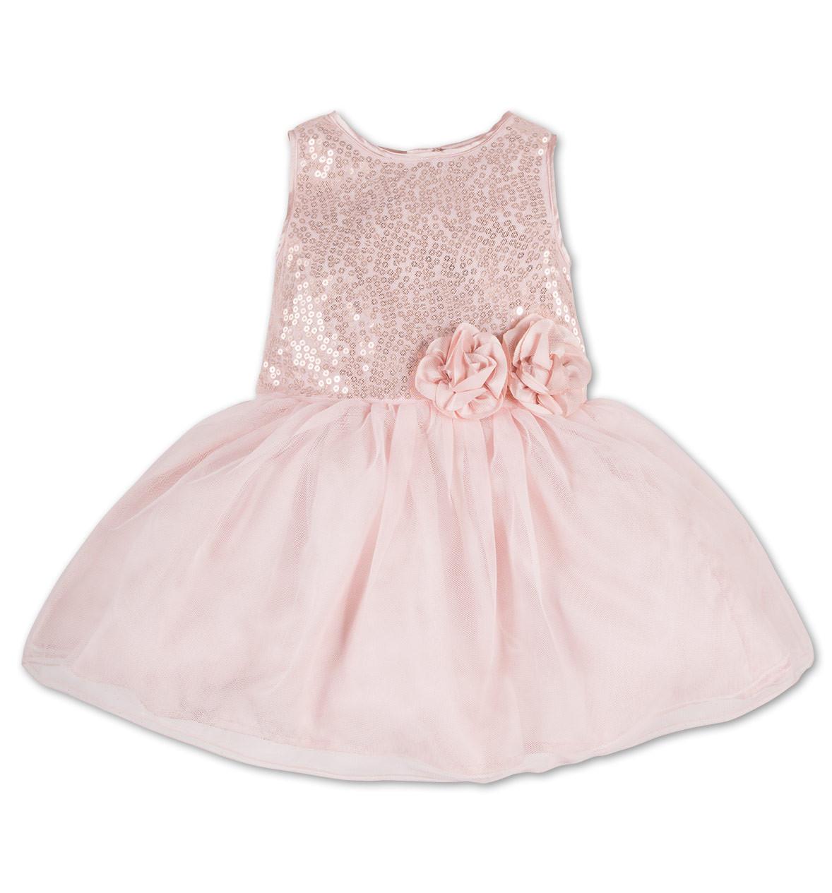 Нарядное розовое платье с пайетками на девочку 9-10 лет C&A Германия Размер 140
