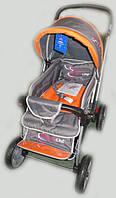 Детская коляска-книжка (перекидная ручка)  Sigma H-538 EF, серо-оранжевая, фото 1