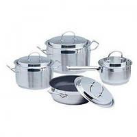 Набор посуды Aurora AU 510 из 9 предметов с метал крышкой