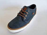 Туфли мокасины для мальчиков, эко-кожа, на шнуровке