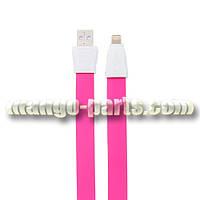 Remax USB кабель Flat Full Speed II RC-011i Lightning, 1.0м pink