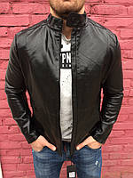 Мужская стильная черная куртка