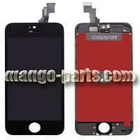 LCD Дисплей+сенсор  iPhone 5C черный high copy (упаковочная коробка)