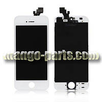 LCD Дисплей+сенсор  iPhone 5G белый (камера,динамик,рамка) оригинал 100%