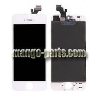 LCD Дисплей+сенсор  iPhone 5G белый high copy (упаковочная коробка)