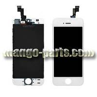 LCD Дисплей+сенсор  iPhone 5S/5SE белый high copy (упаковочная коробка)