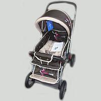 Детская коляска-книжка Sigma H-538 AF,бежевая (надувные колеса), фото 1