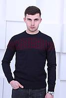 Черный свитер Турецкого производства с узором