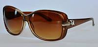 Овальные солнцезащитные очки для женщин карамельного цвета