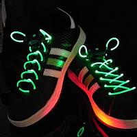 Светящиеся шнурки (ЗЕЛЁНЫЕ led светодиодные), фото 1