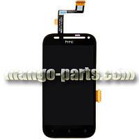 LCD Дисплей+сенсор HTC Desire SV T326e  черный оригинал (Китай)