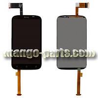 LCD Дисплей+сенсор HTC Desire X T328e черный high copy