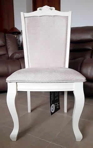 Стул обеденный деревянный в классическом стиле Севилья Sof, цвет белый, фото 2