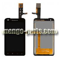 LCD Дисплей+сенсор  Lenovo  A660 черный high copy