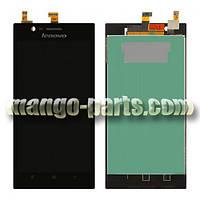 LCD Дисплей+сенсор  Lenovo  K900  черный high copy