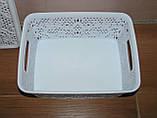Контейнер с крышкой для хранения мелочей  LACE TUPPEX (белый) 4 л, фото 3