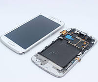 Дисплей (Lcd) Samsung i9260 white + touchscreen with frame original