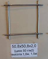 Сетка сварная 50,8х50,8х2,0 оцинкованная (цинк 50 г/м2)
