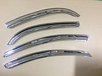 Дефлекторы окон хром (ветровики) Chevrolet Lacetti sedan