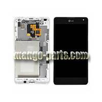 LCD Дисплей+сенсор  LG E975 Optimus G/E970/E971/E973/E976 черный c рамкой high copy