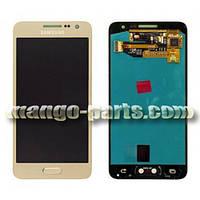 LCD Дисплей+сенсор  Samsung  A300H Galaxy A3/A300F/A300FU (2015),золотой оригинал (Китай)
