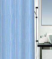 Шторка для ванной текстильная Spirella RAYA 180х200 голубая