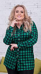 Женская рубашка в клетку (46-60) 8161.2
