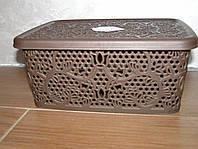Контейнер с крышкой  для хранения мелочей  LACE TUPPEX (коричневый) 4 л