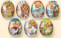 """Термонаклейки на пасхальные яйца """"Ангелочки"""""""