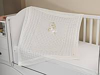 Летний конверт-плед на выписку из роддома, в коляску, кроватку. Молочный