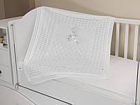 Летний конверт-плед на выписку из роддома, в коляску, кроватку. Белый
