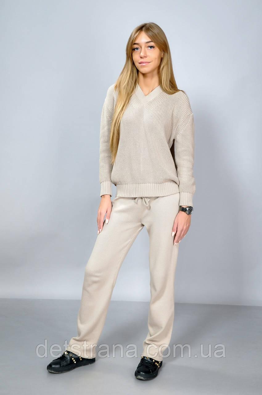 женский вязаный костюм свитер и брюки продажа цена в харькове