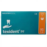 Перчатки латексные Texident PF неопудренные размер XS 100шт.