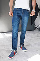Мужские джинсы синие прямые