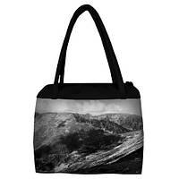 Большая женская сумка Сатчел с принтом Море