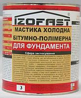 Мастика холодна бітумно-полімерна IZOFAST 3 кг, фото 1