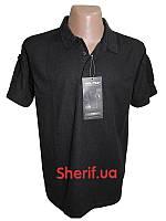 Тактическая футболка-поло черная  Полиция 10961002