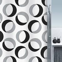 Шторка для ванной текстильная Spirella RINGS 180х200