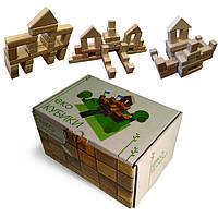 Эко-кубики из дерева Маленький строитель ArIn WOOD (01-013)