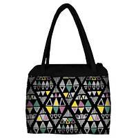 Женская сумка Сатчел с принтом Орнамент цветной