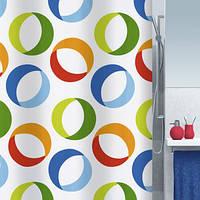 Шторка для ванной текстильная Spirella RINGS 180х200 цветная