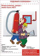 Плакат «Содержи в исправном состоянии первичные средства пожаротушения»