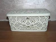 Контейнер с крышкой для хранения мелочей  LACE TUPPEX (кремовый) 4 л