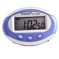 Недорогие часы в салон автомобиля 8165А, питание батарейка, секундомер, будильник, 70х50х13 мм