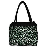 Большая женская сумка Сатчел с принтом Леопард