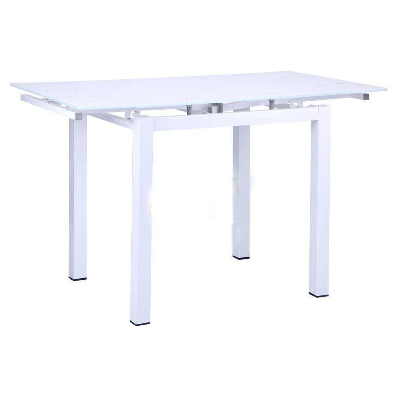 Стол стеклянный Корфу База белый/Стекло белый, TM AMF