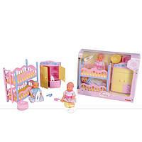 Кукольный набор. 2 мини-пупса и спальня NBB (5036610)