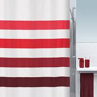Шторка для ванной текстильная Spirella FOUR 180х200, красная